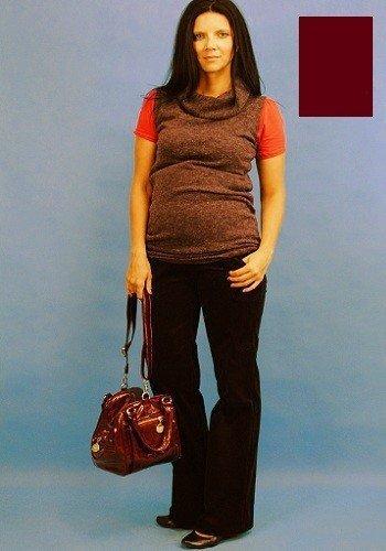 Spodnie ciążowe sztruksowe 8155