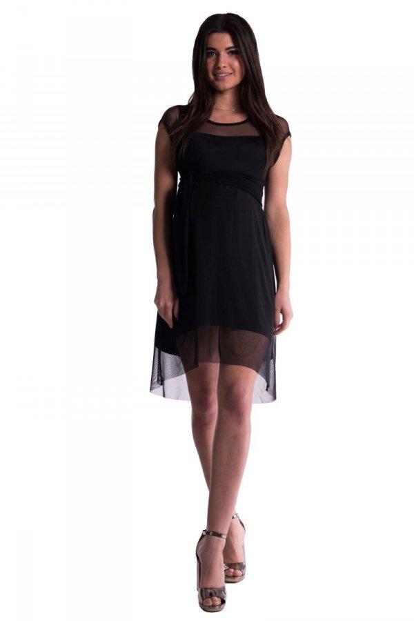 Sukienka ciążowa wiskozowa z siatką 3648