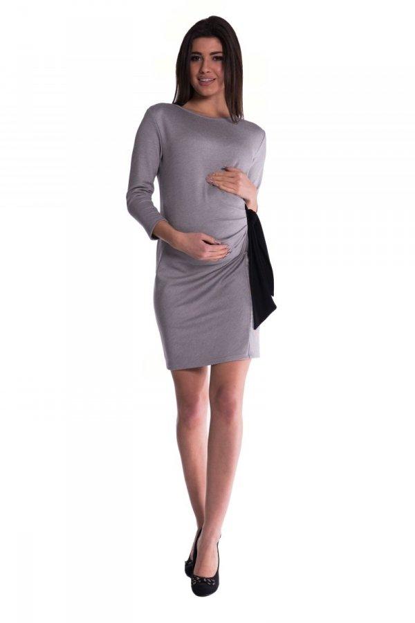 Sukienka ciążowa z kokardą 3464