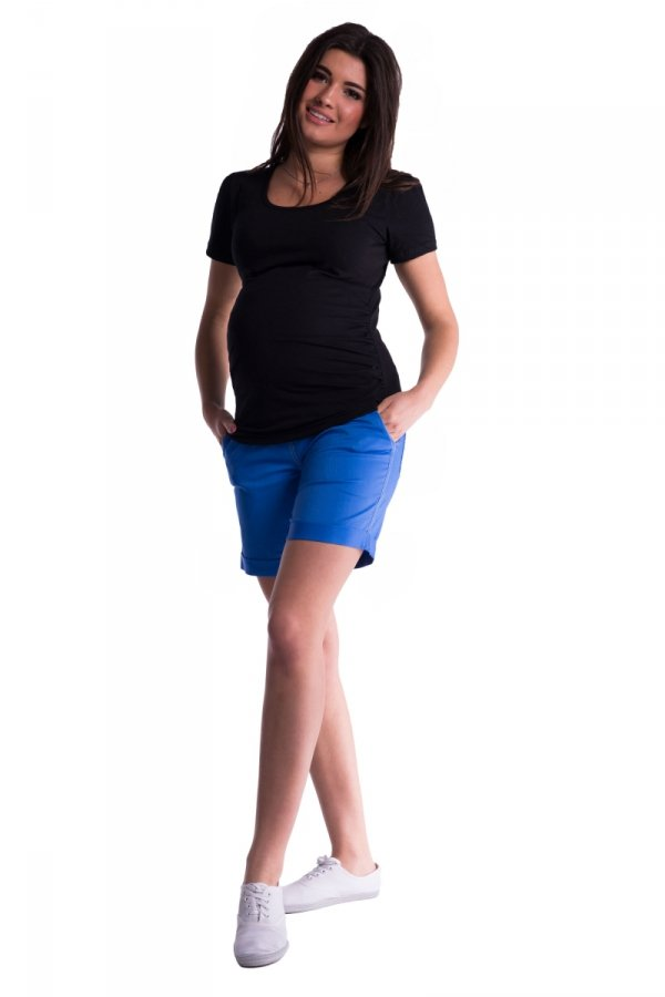 Szorty ciążowe z panelem, krótkie spodnie 3785