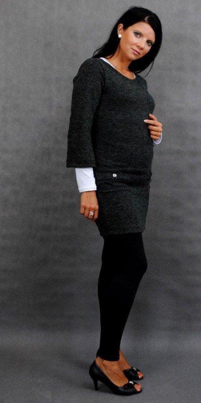 Sukienka tunika ciążowa na jesień z guziczkami 0982