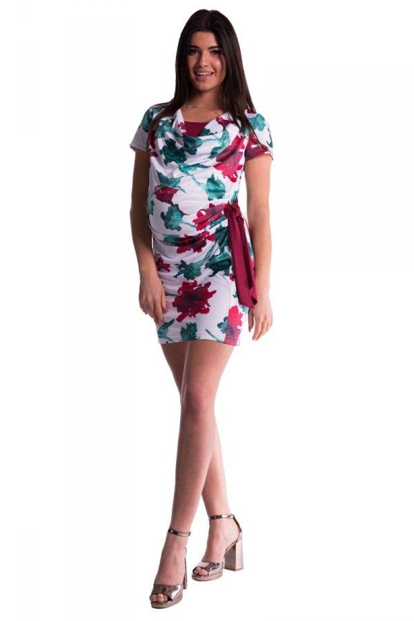 Sukienka ciążow i dla karmiącej, kokarda 3631