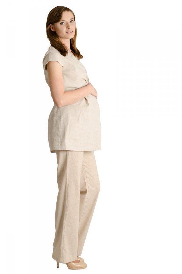 Lniana tunika ciążowa na lato 8247