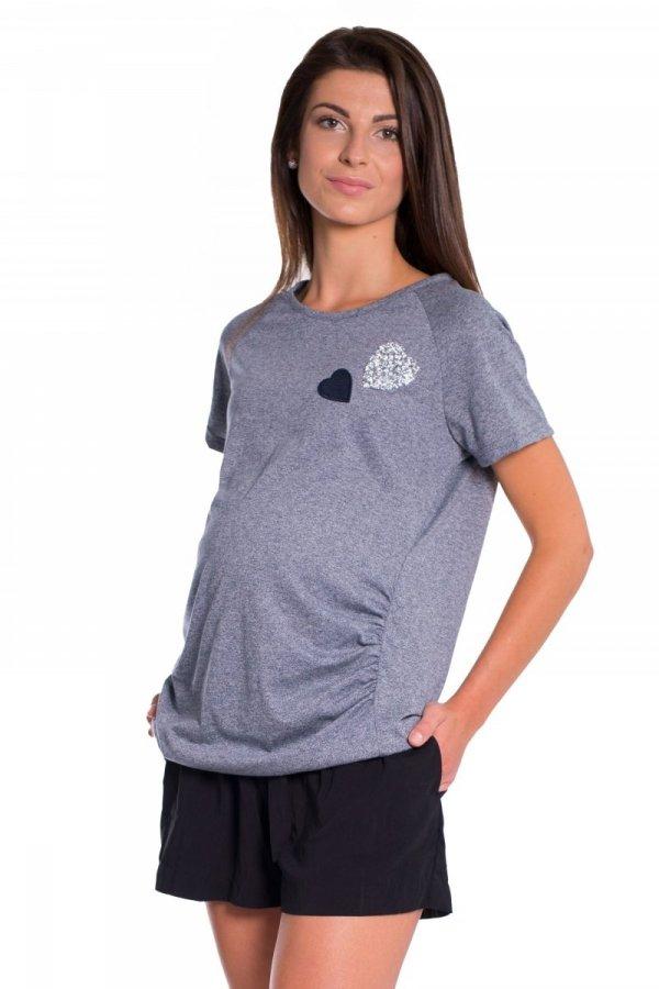 Bluzka ciążowa z aplikacjami 3884