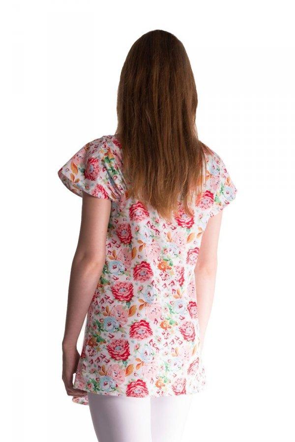 Tunika, bluzka ciążowa, letnie kwiaty 3334