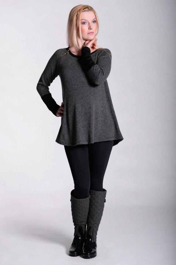Tunika ciążowa, bluzka z pikowanymi rękawami 2313