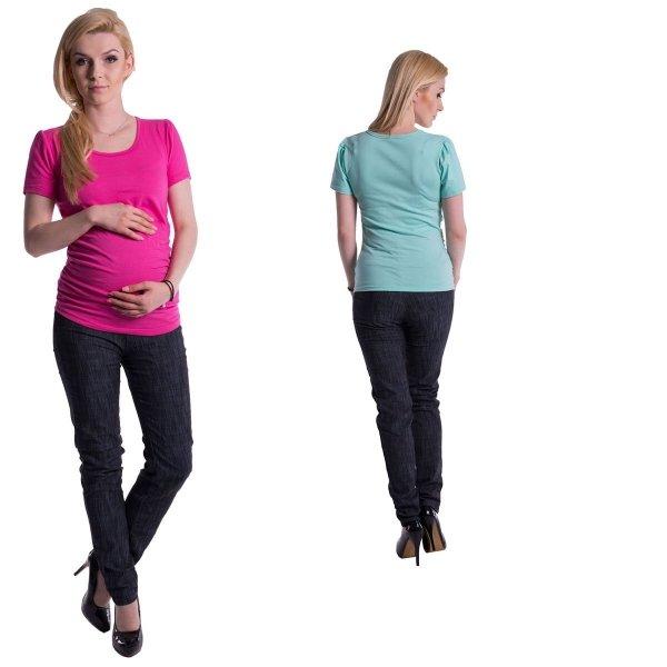 Bluzka ciążowa Classic krótki rękaw 8209