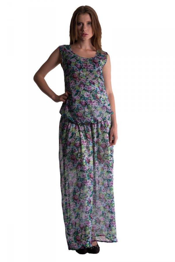 Zwiewna letnia sukienka ciążowa 3327