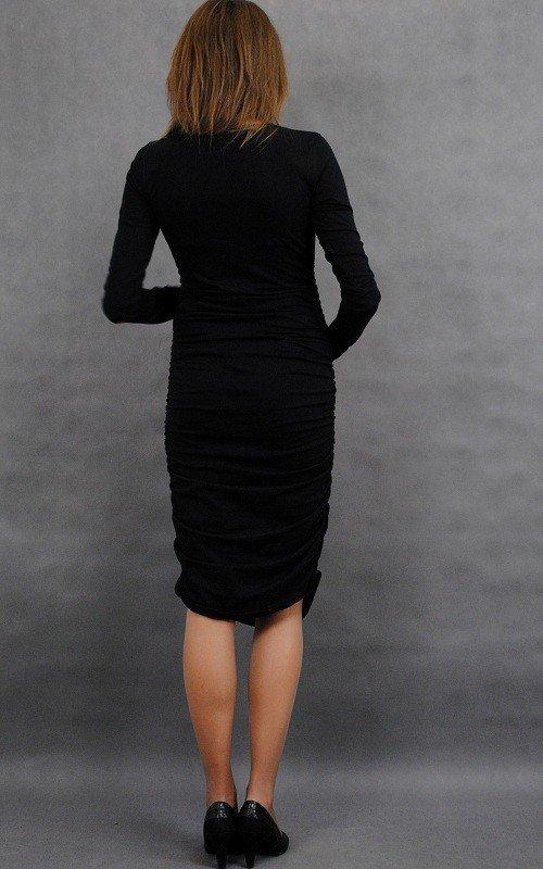 Śliczna marszczona sukienka ciążowa Classic 8124