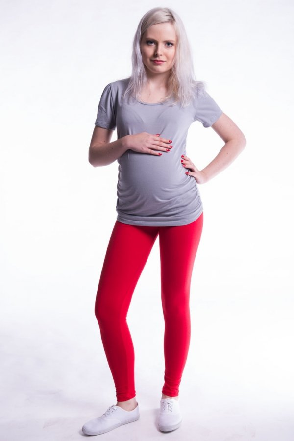 Bawełniane długie legginsy ciążowe