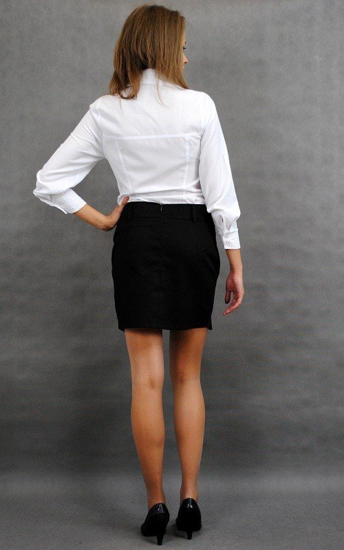 Mini Spódnica bawełniana ze szlufkami