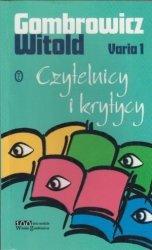 Czytelnicy i krytycy Varia 1 Witold Gombrowicz