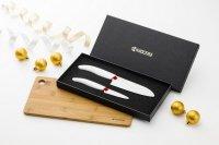Zestaw 2 noży ceramicznych z deską GRATIS