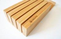 Bambusowy blok na 4 noże Kyocera