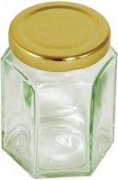 Sześciokątny słoik ze złotą pokrywką - 228 g Tala