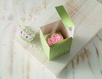Pudełka prezentowe COTTAGE GARDEN na 4 cupcake - 2 szt Birkmann