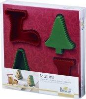 Foremki do muffinów i deserów CHRISTMAS - 4 szt. Birkmann