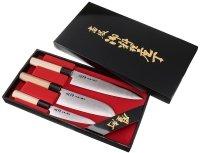 Zestaw noży Tojiro Shippu uniwersalny 13cm + santoku + szefa 21cm