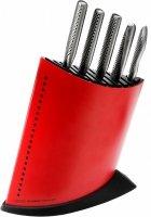 Komplet 5 noży w czerwonym bloku GKB-52CR | Global
