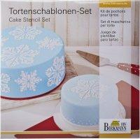 Szablony do dekoracji tortów ICE CRYSTAL - 2 szt. Birkmann