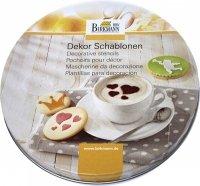 Szablony do dekoracji ciasteczek i kawy FOREVER - 6 szt Birkmann