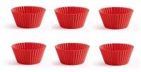 Foremki do muffinów CLASSIC czerwone - 6 szt. Lekue