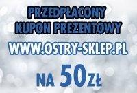 Kupon prezentowy przedpłacony 50 zł