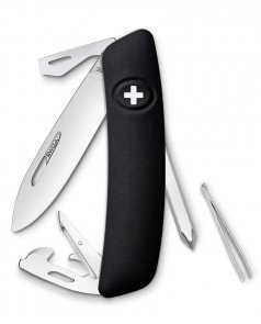 Scyzoryk SWIZA D04 BLACK 2 line Swiss Knife 95mm