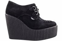 Buty Underground CREEPERS WEDGE Black Suede