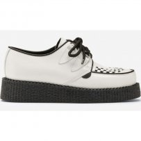 Buty Underground CREEPERS SINGLE SOLE White Leather