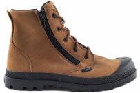 Buty Palladium PAMPA HI Lea Gusset Brown 52744216