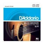 Struny do akustyka D'ADDARIO EJ11 (12-53)