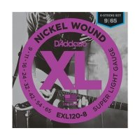 Struny D'ADDARIO XL Nickel EXL120-8 (09-65) 8str.