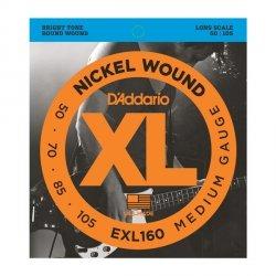 Struny do basu D'ADDARIO EXL160 (50-105)