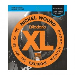 Struny do basu 5str D'ADDARIO EXL160-5 (50-135)