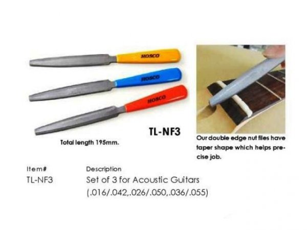 Pilniki do siodełek gitar klasycznych HOSCO NF3C