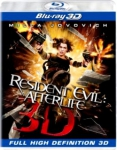 RESIDENT EVIL AFTERLIFE  3D BLU RAY