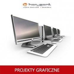 projekt graficzny, skład z przygotowaniem do druku pliku graficznego teczki dwustronnej (do produkcji Horyzont)