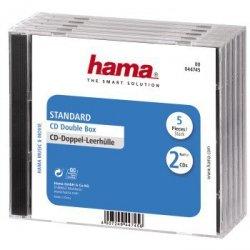 Hama opakowanie cd-box 5 szt. podwójne 447450000