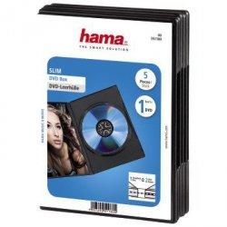 Hama dvd slim box czarny 5szt. 511800000