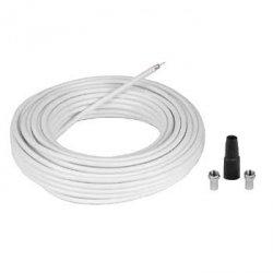 Hama kabel antenowy 75db 10m + wtyk f 2 szt. + osłona 566060000