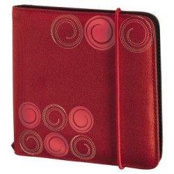 Hama cd wallet slim gumka 24 czerwony 956690000