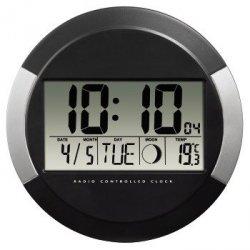 Hama zegar elektroniczny scienny dcf pp-245 czarny + gratis