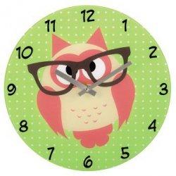 Dziecięcy zegar ścienny sowa w okularach