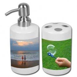 Zestaw łazienkowy ze zdjęciem