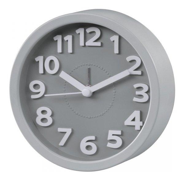 Alarm clock, taupe, round