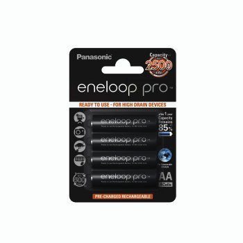 2 akumulatorki panasonic eneloop pro r6 aa min. 2.500 mah