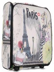 Palubní kufřík italské firmy Or&Mi 2 kolečka Černá Paris 2