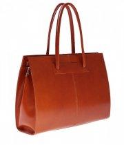 Kožená kabelka aktovka A4 Genuine Leather zrzavá