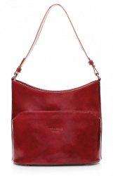 Elegantní kožené kabelky do ruky i na rameno červená